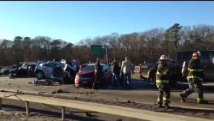 Long Island Expressway Remained Closed Following Tractor Trailer Crash and Fire-7