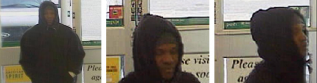 las Vegas: suspect wanted for robbery at convenience store
