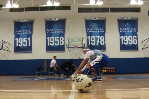 John Calipari Prepares Kentucky Team by Playing Dodgeball