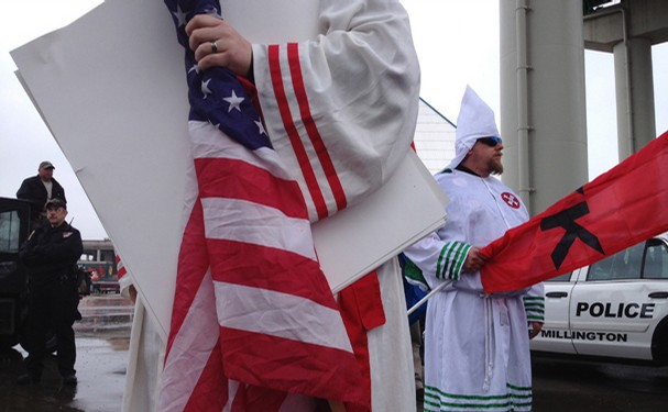 KKK were carrying out a planned rally in Tennessee