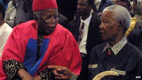Nelson Mandela described Chinua Achebe as the writer who brought the prison walls down