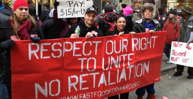 New York City's fast food workers are on strike