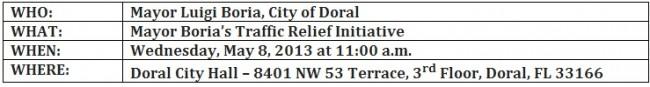 Mayor Boria's Traffic Relief Initiative