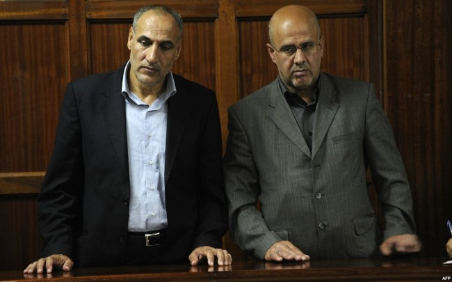 Kenya sentenced life imprisonment to two Iranian nationals.