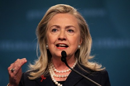Who should play Hillary Clinton in her new biopic.