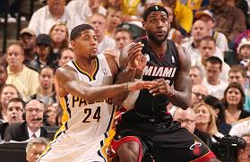 The Indiana Pacers downed the Miami Heat in game four to even the Eastern Conference Finals