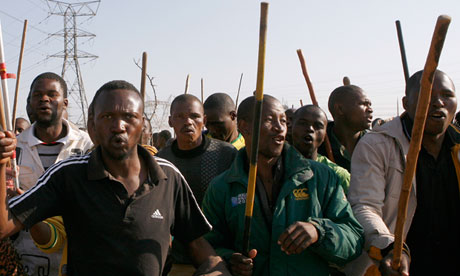 Lonmin Mine workers in South Africa refused to work following devastating mafia style shooting