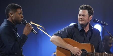 Blake Shelton and Usher join to sing on benefit