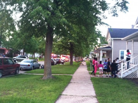 Law enforcement responds to a 911 call Friday night in West Green Bay.