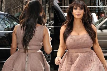 Kim Kardashian and her flighty dress