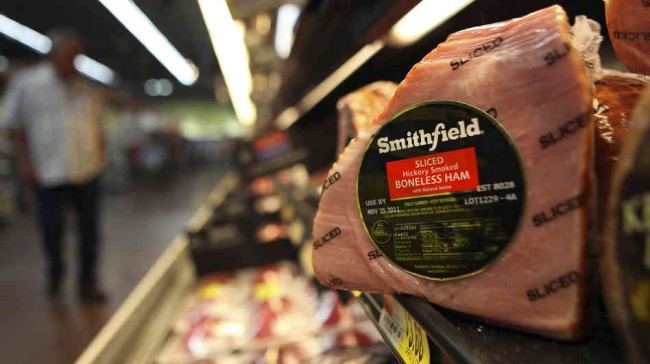 Pork transaction makes Smithfield Foods stocks surge