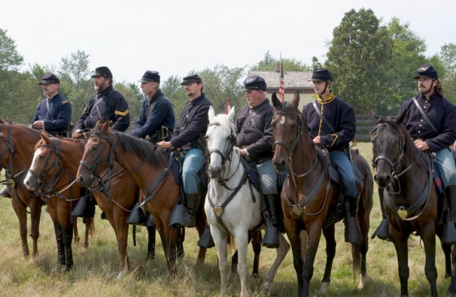 Civil War reenactment - Union soldiers