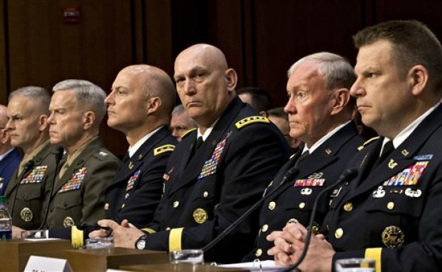 Top ranking officers testify at Congressional hearing on sexual assault in the military