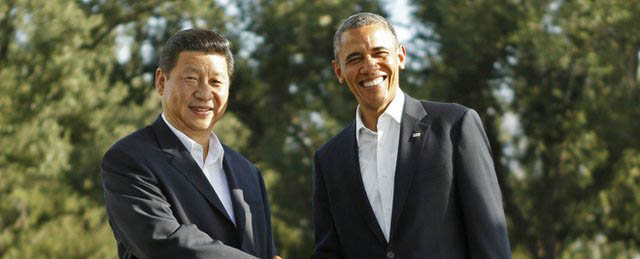 Xin Jinping Chinese President and Obama Meet at Rancho Mirage