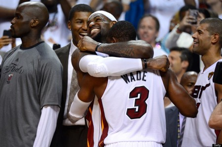 The Miami Heat defeated the Indiana Pacers Monday night and will now face the Spurs in the NBA Finals.