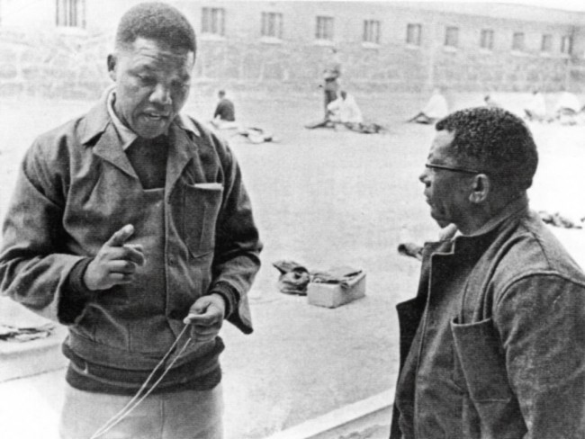 Nelson Mandela in Robben Island prison