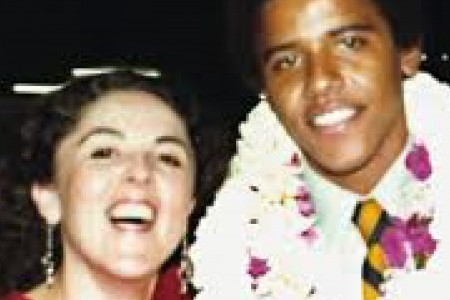 Obama and mother