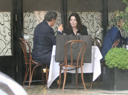 Nigella Lawson Strangling Saatchi at Restaurant After Police Caution