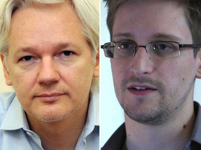Julian Assange and Edward Snowden