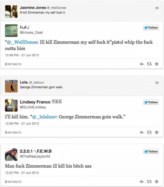 Zimmerman twitter comments2