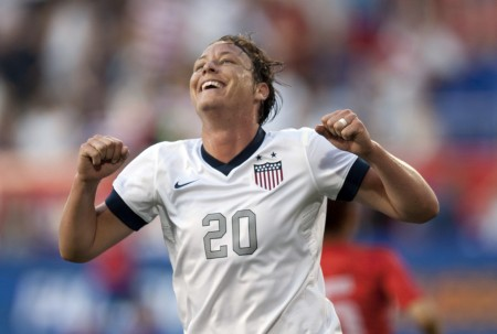 Abby Wambach is now the leading scorer at the international level with 160 career goals, surpassing Mia Hamm's mark of 158 in a win over South Korea last night.