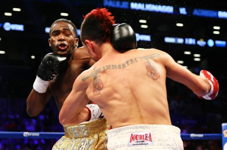 Adrien Broner was able to win the belt and the girl by defeating Paulie Malignaggi by split decision last night.