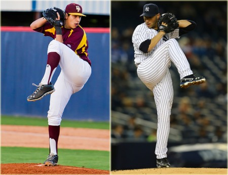 Andy Pettitte won his 250th career start on the same day his son Josh was drafted by the Yankees in the 37th round.