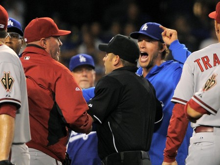 The Dodgers and Diamondbacks game last night in LA featured a bench clearing brawl.