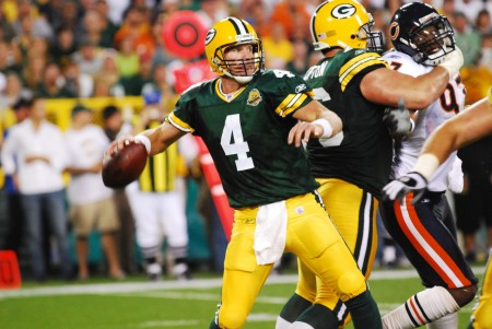 Brett Favre has accepted some of the blame for his breakup with the Green Bay Packers in 2007.