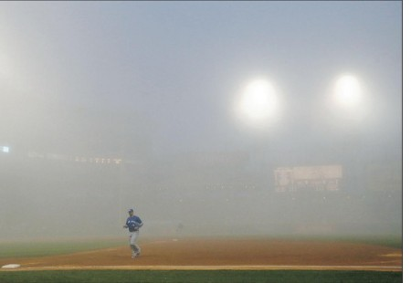 Adam Dunn was able to power through this foggy weather and drive in two home runs.