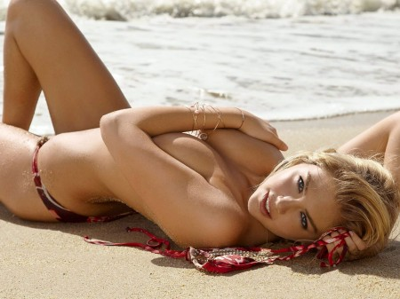 Kate Upton naked body paint photo shoot.