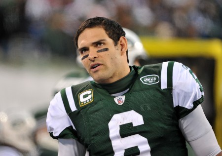 Although this time he didn't fumble, Mark Sanchez once again found a way to embarrass himself with a butt.