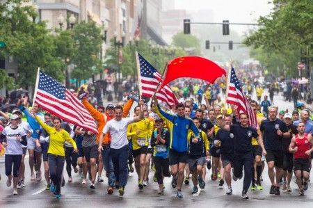 The One-Run for Boston relay race is nearing the finish line.