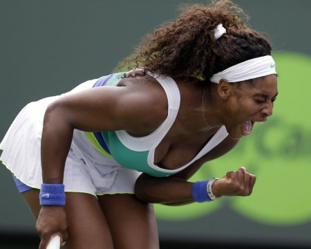 Serena Williams advances to the third round, where she will face the oldest player to make it that far.