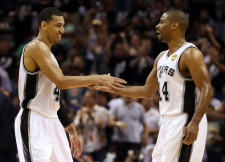 The San Antonio Spurs have taken the lead in the NBA Finals thanks to Danny Green, left, and his record setting three point shooting.