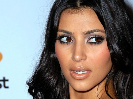 Kim Kardashian Sideboob and Enhanced Booty Shot