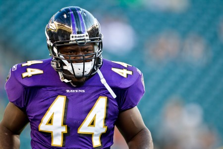 The Baltimore Ravens continue their exodus of veterans by cutting ties with fullback Vonta Leach today.