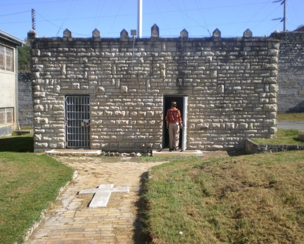 Decommissioned Missouri State Penitentiary gas chamber in Jefferson City, Missouri