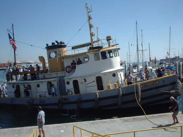 Tugboat Angels Gate at Los Angeles Maritime Museum