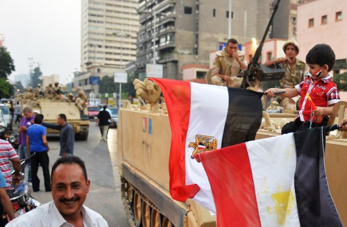 Egyptian Army on the Streets