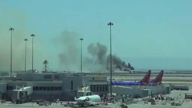 Plane crash lands at San Francisco international airport