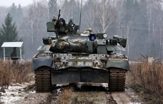 Russian T-80 battle tank