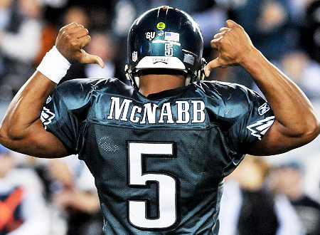 Donovan McNabb's jersey  will officially be retired by the Eagles on September 19.