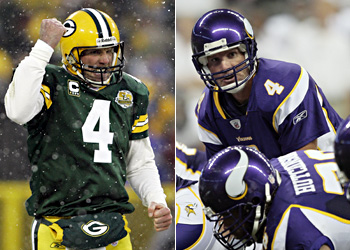 Brett Favre played out his career with the Vikings after a bitter fallout with the Packers.