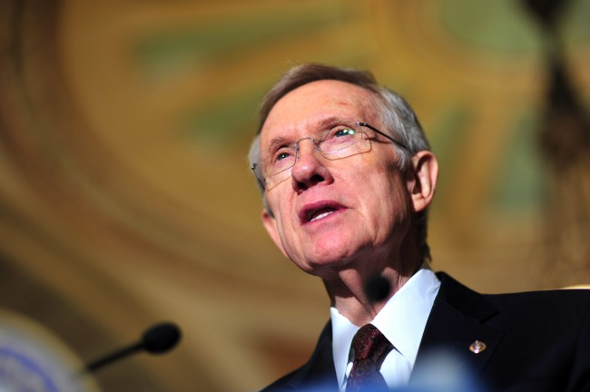 Leader Reid speaks on the 112th Congress in Washington