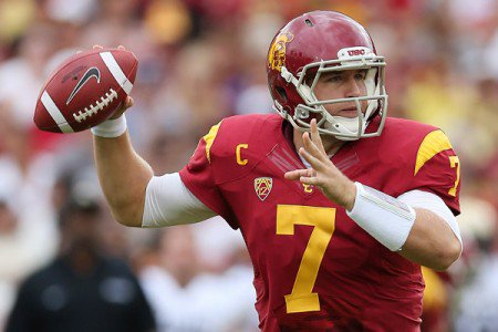 The dark horse candidate for the starting job, Matt Barkley is a rookie with four years starting experience at USC.