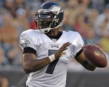 Mike Vick is the favorite, and possesses the speed and arm strength needed to succeed in Chip Kelly's offense.
