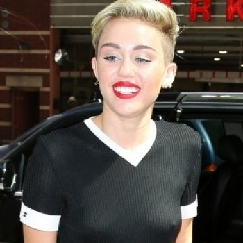Miley's braless look