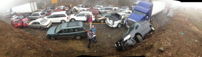 Thirty Seven Car Pileup in NC