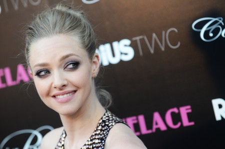 Amanda Seyfried Boob on Show at Lovelace Premiere
